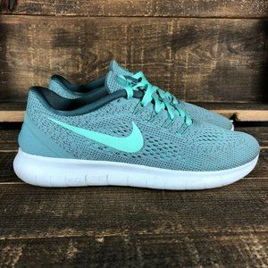 Nike Womens Free RN Mint Green Running Shoe Sz 7.5
